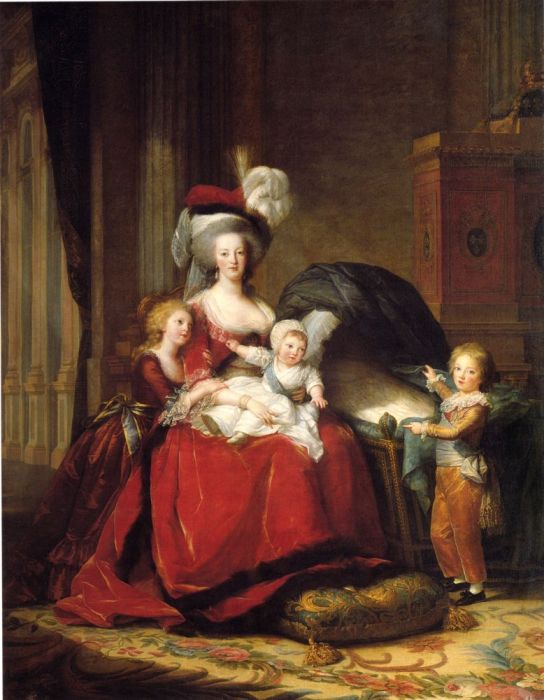 Queen Marie-Antoinette and Her Children, 1787  Painting Reproductions