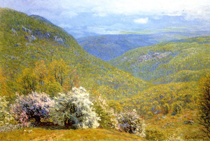 Spring Hillside  Painting Reproductions