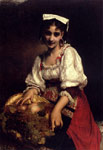 Piot, Etienne Adolphe An Italian Beauty, 1874 Art Reproductions