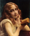 Piot, Etienne Adolphe A Little Girl Reading Art Reproductions
