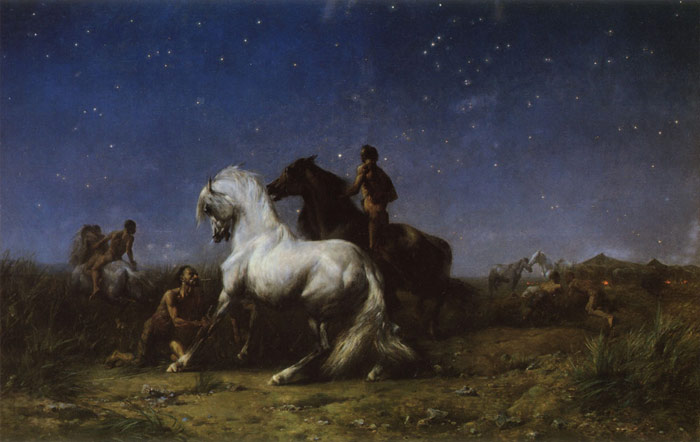 Voleurs De Nuit [Night Robbers], 1865  Painting Reproductions