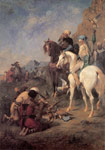 2751 Falcon Hunting in Algeria, 1862 Art Reproductions