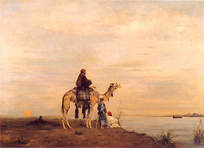 Waiting for The Ferry Across the Nile Fromentin, Eugene Painting Reproductions