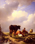 A Farmer At Rest With His Stock, 1844 Art Reproductions