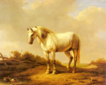 Verboeckhoven, Eugene Joseph A White Stallion In A Landscape Art Reproductions