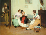 Blaas, Eugene de The Friendly Gossips, 1901 Art Reproductions