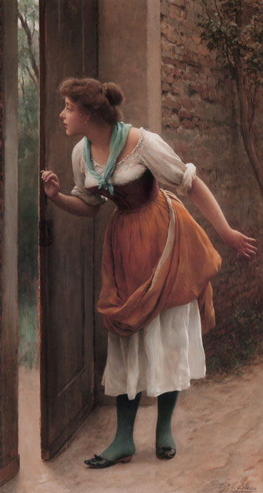 The Eavesdropper, 1906  Painting Reproductions