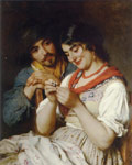 Blaas, Eugene de The Seamstress Art Reproductions