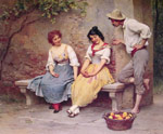Blaas, Eugene de The Flirtation, 1904 Art Reproductions