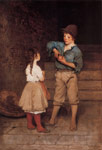 Blaas, Eugene de  Two Children, 1888-1889 Art Reproductions