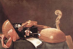 Baschenis, Evaristo Still Life with Musical Instruments Art Reproductions