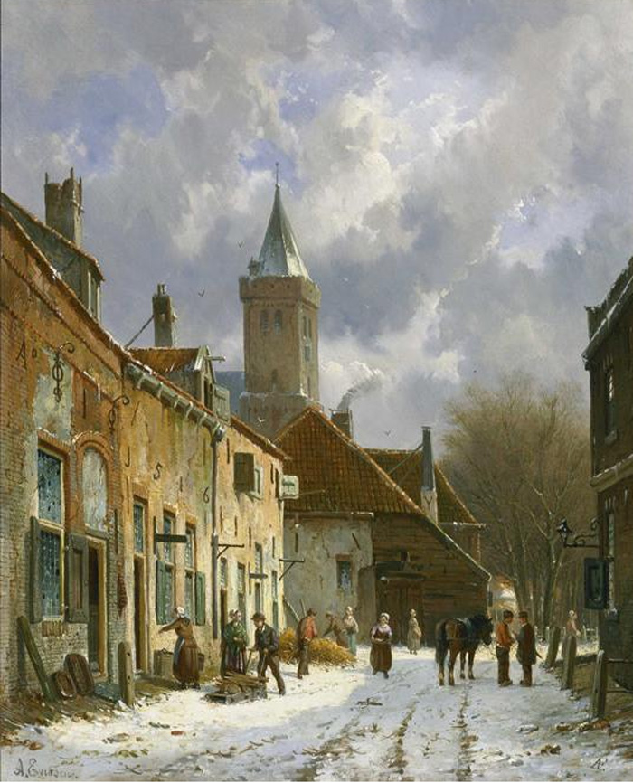 A Dutch street scene  Painting Reproductions