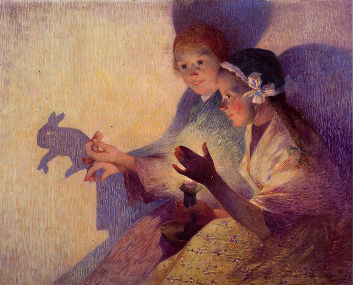 Chinese Shadows, the Rabbit, 1895  Painting Reproductions