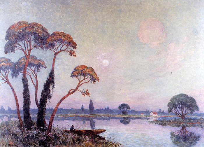 Fishermen by the Banks of the Loire  Painting Reproductions