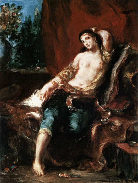 Odalisque, 1857 Delacroix, Ferdinand Victor Eugene Painting Reproductions