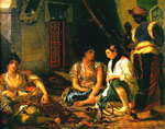 Delacroix, Ferdinand Victor Eugene Women of Algiers in their Apartment, 1834 Art Reproductions