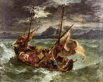 Delacroix, Ferdinand Victor Eugene Christ on the Lake of Gennezaret, 1854 Art Reproductions