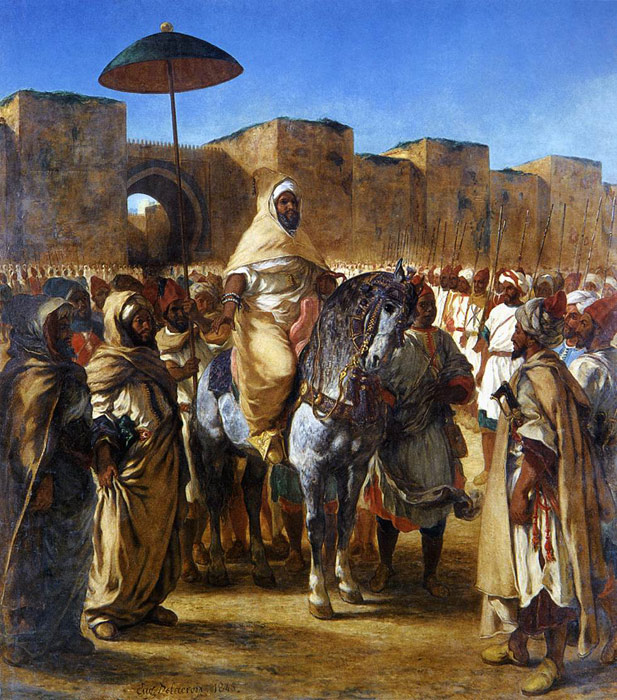The Sultan of Morocco and his Entourage, 1845  Painting Reproductions