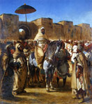 Delacroix, Ferdinand Victor Eugene The Sultan of Morocco and his Entourage, 1845 Art Reproductions