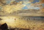 Delacroix, Ferdinand Victor Eugene The Sea from the Heights of Dieppe Art Reproductions