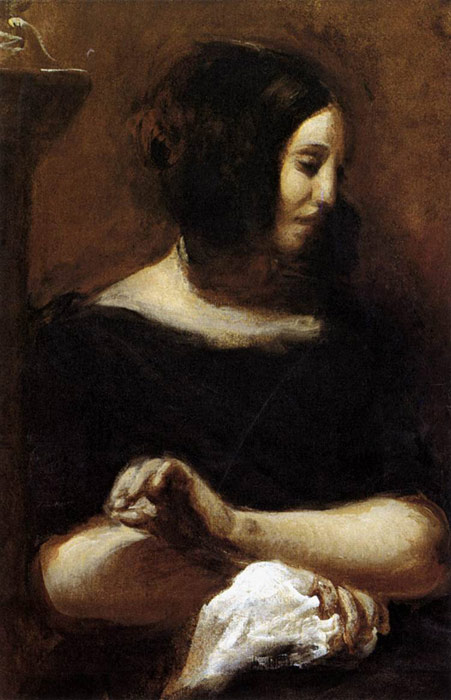 George Sand, 1838  Painting Reproductions