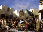 Delacroix, Ferdinand Victor Eugene The Fanatics of Tangier, 1837-1838 Art Reproductions