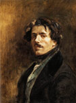 Delacroix, Ferdinand Victor Eugene Self-Portrait, 1837 Art Reproductions