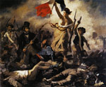 Delacroix, Ferdinand Victor Eugene Liberty Leading the People (28th July 1830), 1830 Art Reproductions