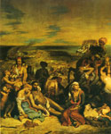 Delacroix, Ferdinand Victor Eugene The Massacre at Chios Art Reproductions