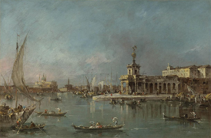 The Punta della Dogana, Venice, the Giudecca and the Redontore beyond  Painting Reproductions