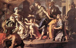 Solimena, Francesco Dido Receiveng Aeneas and Cupid Disguised as Ascanius, 1720 Art Reproductions