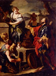 Solimena, Francesco Rebecca and Eleazer, 1710 Art Reproductions