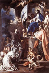 Solimena, Francesco St Bonaventura Receiving the Banner of St Sepulchre from the Madonna, 1710 Art Reproductions