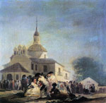 3284 Pilgrimage to the Church of San Isidro, 1788 Art Reproductions