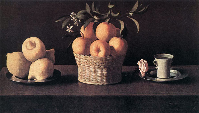 Still life with Oranges, Lemons and Rose, 1633  Painting Reproductions