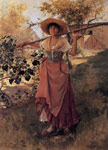 Duveneck, Frank Girl with Rake, 1884 Art Reproductions