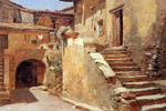 Duveneck, Frank Italian Courtyard, 1886-1887 Art Reproductions