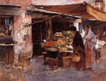 Duveneck, Frank Venetian Fruit Market, 1884 Art Reproductions