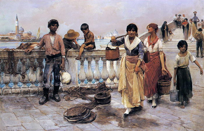 Water Carriers, Venice, 1884  Painting Reproductions
