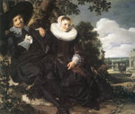 Hals, Frans Married Couple in a Garden, c.1622 Art Reproductions