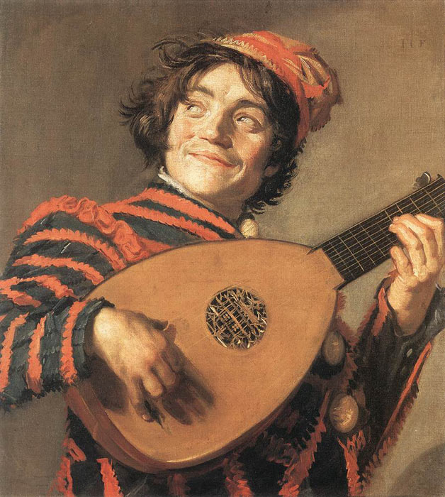 Buffoon Playing a Lute, c.1623  Painting Reproductions