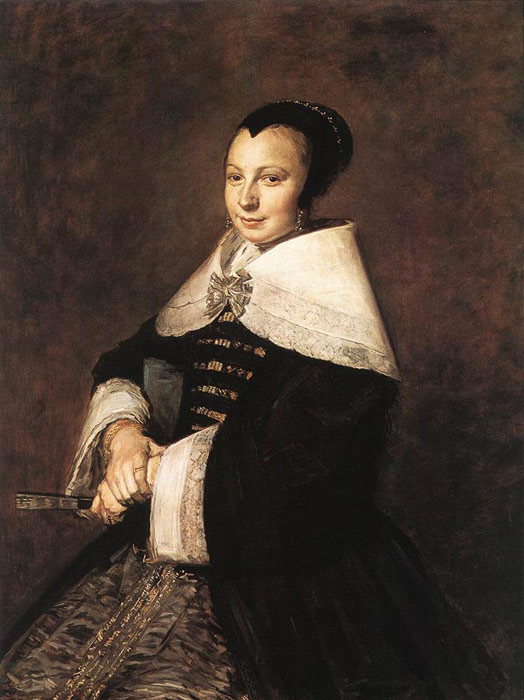 Portrait of a Seated Woman Holding a Fan, 1648-1650  Painting Reproductions