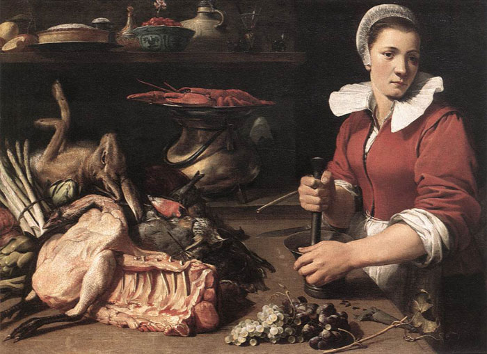 Cook with Food, 1630s  Painting Reproductions