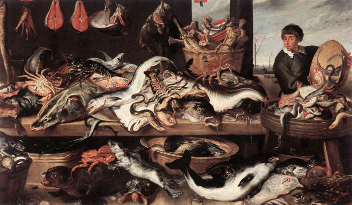 Fishmonger's Snyders, Frans Painting Reproductions