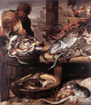 Snyders, Frans The Fishmonger Art Reproductions