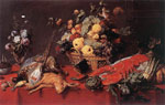 Snyders, Frans Still-life with a Basket of Fruit Art Reproductions