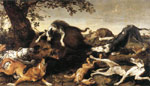 Snyders, Frans Wild Boar Hunt Art Reproductions