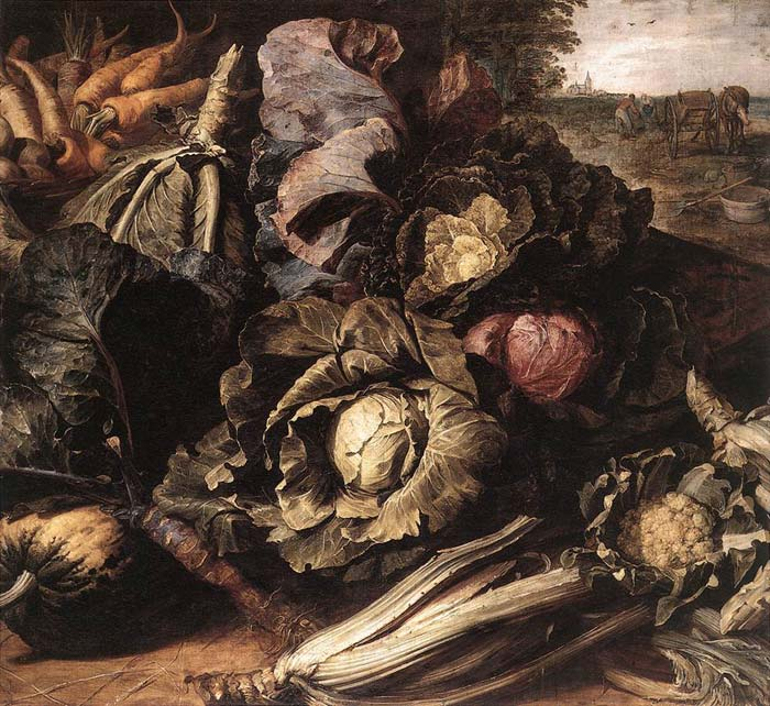 Vegetable Still-Life, c. 1600  Painting Reproductions