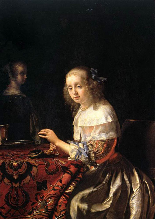 The Lacemaker, 1680  Painting Reproductions