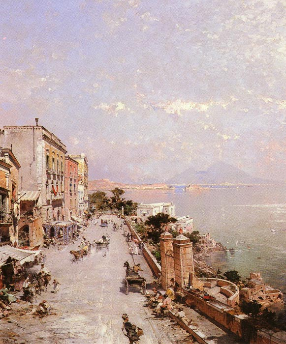 A View of Posilippo, Naples  Painting Reproductions